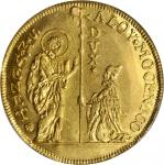 ITALY. Venice. 10 Zecchini, ND. Alvise Moncenigo IV (1763-78). PCGS Genuine--Plugged, AU Details Sec