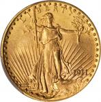 1911-D Saint-Gaudens Double Eagle. MS-62 (PCGS).