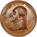 Circa 1858 Manly medal. Second Obverse reissue. Musante GW-11, Baker-62B. Copper. SP-62 BN (PCGS).