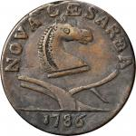 1786 New Jersey copper Whatsit. Made from Maris 43-d.