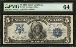 Fr. 281. 1899 $5 Silver Certificate. PMG Choice Uncirculated 64.