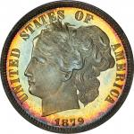 1879 Pattern Washlady Dime. Judd-1584, Pollock-1777. Rarity-6-. Silver. Reeded Edge. Proof-67+ Cameo