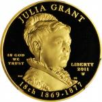 2011-W First Spouse Gold Bullion Coin. Julia Grant. Proof-68 Deep Cameo (PCGS).