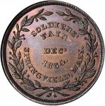 (after 1864) Muling of J.A. Bolen's Soldier's Fair and He Lived For His Country dies. Copper. 28mm.