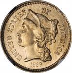 1868 Nickel Three-Cent Piece. MS-67 (NGC).