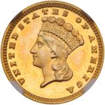 1884 $1 Gold Indian. NGC PF68