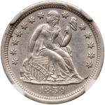 1859-S Liberty Seated Dime. NGC AU55