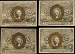 Lot of (4) Fr. 1232, 1244, 1283, 1316. Second Issue Fractional Currency. Extremely Fine to Uncircula