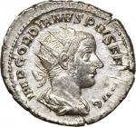公元238-244年戈尔迪安三世古钱银币(4.17克)。罗马造币厂。 GORDIAN III, A.D. 238-244. AR Double Denarius (Antoninianus) (4.1