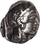 ATTICA. Athens. AR Tetradrachm (17.05 gms), ca. 440-404 B.C. NGC VF, Strike: 4/5 Surface: 2/5. Scrat