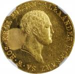 POLAND. 50 Zlotych, 1819-IB. Warsaw Mint. Alexander I. NGC Unc Details--Obverse Repaired.