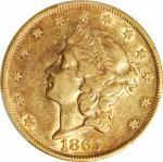 1865 Liberty Head Double Eagle. EF-45 (PCGS).