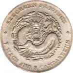 CHINA. Szechuan. 7 Mace 2 Candareens (Dollar), ND (1909-11). PCGS Genuine--Cleaning, EF Details Secu