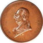 1841 John Tyler Indian Peace Medal. First Size. Second Reverse. Bronze. 75.7 mm. Julian IP-21. Mint