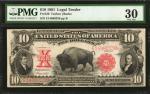 Fr. 120. 1901 $10 Legal Tender Note. PMG Very Fine 30.