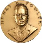 1966 United States Assay Commission Medal, Electrotype Reproduction. Yellow Bronze appearance. 56.8