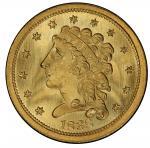 1838 Classic Head Quarter Eagle. McCloskey-1. Mint State-67 (PCGS).