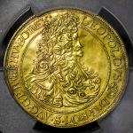 "HOUSE OF HABSBURG Leopold I レオポルト1世(1657~1705) 5Ducats 1703/2NB PCGS-AU Detail ""Plugged""  目立たぬ穴埋ある以外"