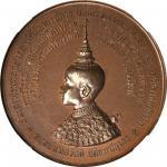 1888年皇储Maha Vajiravudh纪念铜章 THAILAND. Consecration of Prince Maha Vajiravudhs Golden Tablet of Style