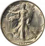1921-S Walking Liberty Half Dollar. MS-64 (PCGS).