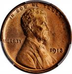 1913 Lincoln Cent. MS-66 RB (PCGS).