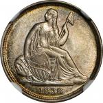 1838-O Liberty Seated Dime. No Stars. Fortin-102. Rarity-3. MS-65 (NGC).