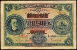 CAPE VERDE. Banco Nacional Ultramarino. 20 Escudos, 1921. P-29. Fine.