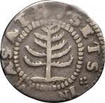 1652 Pine Tree Shilling. Small Planchet. Noe-29, Salmon 11-F, W-930. Rarity-3. Fine-15 (PCGS).