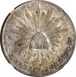 MEXICO. 4 Reales, 1838-Go PJ. Guanajuato Mint. NGC AU-58.