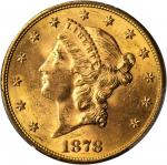 1878-S Liberty Head Double Eagle. MS-63 (PCGS).