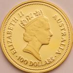 オーストラリア (Australia) ナゲット金貨4種揃プルーフセット 1986年 KMPS49 / Australian Nugget Gold 4-Coin Proof Set