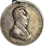 1829 Andrew Jackson Indian Peace Medal. Silver. First Size. Julian IP-14, Prucha-43. About Uncircula