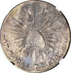 MEXICO. 4 Reales, 1842-Go PJ. Guanajuato Mint. NGC VF-30.