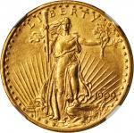 1909-D Saint-Gaudens Double Eagle. AU-58 (NGC).