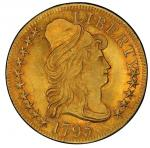1795 Capped Bust Right Half Eagle. Bass Dannreuther-3. Rarity-3+. Small Eagle. Mint State-65 (PCGS).