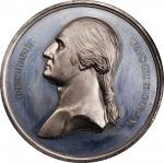Circa 1857 Tomb of Washington medal by Smith and Hartmann. Musante GW-207, Baker-117B. White Metal.