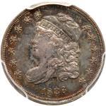 1836 Capped Bust Half Dime. PCGS AU58