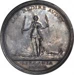 1763 Treaty of Hubertusburg Medal. Silver. 44.7 mm. By Leonhard Oexlein. Betts-446, Olding-931. MS-6