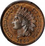 1864 Indian Cent. Bronze. Proof-66 BN (PCGS).