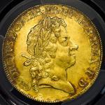 1717年英国乔治一世像5几尼金币 PCGS MS 61