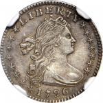1796/5 Draped Bust Half Dime. LM-2. Rarity-6. AU-53 (NGC).