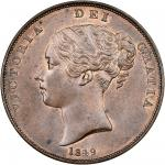 Victoria (1837-1901), Penny, 1849, young head left, rev. Britannia seated right (Peck 1497; S.3948),