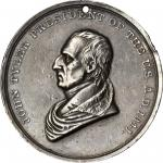 1841 John Tyler Indian Peace Medal. Silver. Second Size. Julian IP-22, Prucha-45. Extremely Fine.