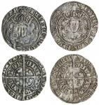 Henry VII (1485-1509), Groats (2), both type IIIC, 3.18g, m.m. inverted anchor/ greyhound head 1, he