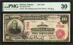 Marion, Indiana. $10 1902 Red Seal. Fr. 613. The Marion NB. Charter #7758. PMG Very Fine 30.