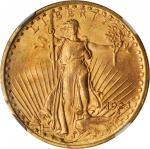 1923 Saint-Gaudens Double Eagle. MS-64 (NGC). CAC.