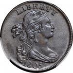 1805 Draped Bust Cent. S-267. Rarity-1. MS-63 BN (PCGS).