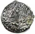 GAUL: Suessiones, AE unit 402。91g41, 1st century BC, LT-7729, DT-558, head left with heavy locks of
