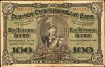 GERMAN EAST AFRICA. Deutsch-Ostafrikanische Bank. 100 Rupien, 1905. P-4. Fine.