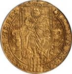 GREAT BRITAIN. Rose Ryal, ND (1621-23). Third Coinage James I (1603-25). PCGS AU-55.